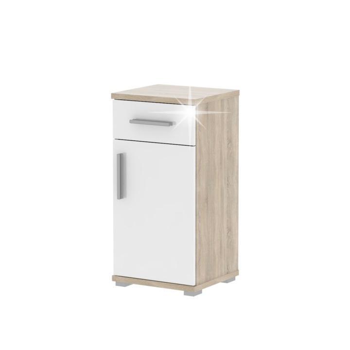 KONDELA Lessy LI 3 kúpeľňová skrinka dub sonoma / biela
