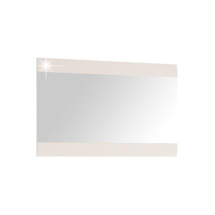 KONDELA Lynatet 122 zrkadlo na stenu biela