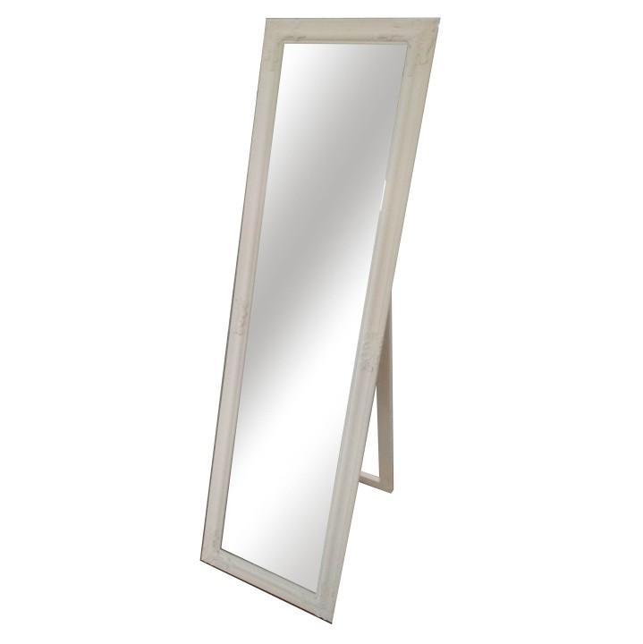 KONDELA Malkia Typ 12 stojace zrkadlo smotanová