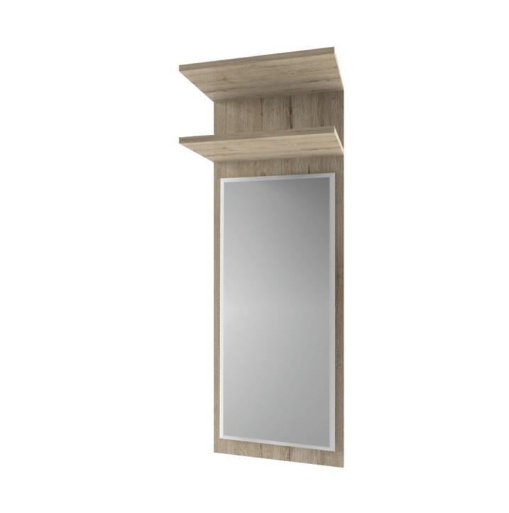 KONDELA Orestes 45 panel so zrkadlom dub san remo