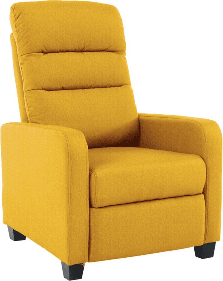 TEMPO KONDELA Relaxačné kreslo, žltá, TURNER
