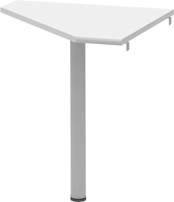 TEMPO KONDELA Rohový stolík, biela/kov, JOHAN 2 NEW 06
