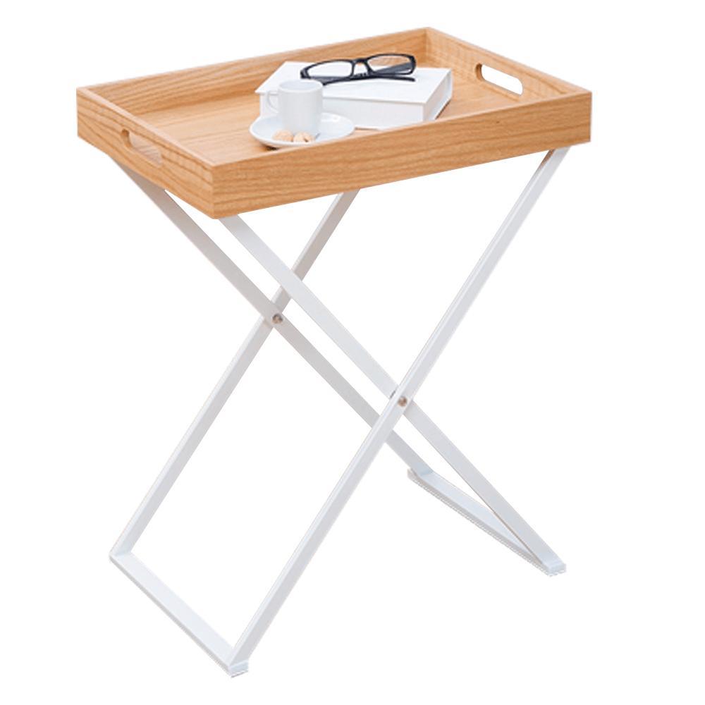 Kondela Servírovací stolík, prírodná-biela, BELENE