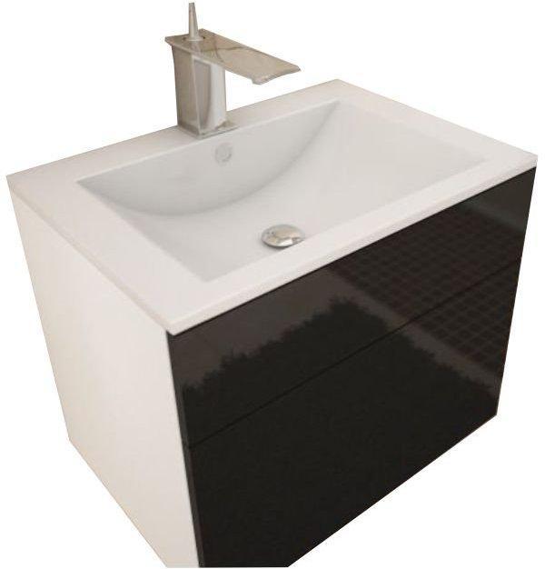 Tempo Kondela Skrinka pod umývadlo, biela/čierny HG, MASON BL 13