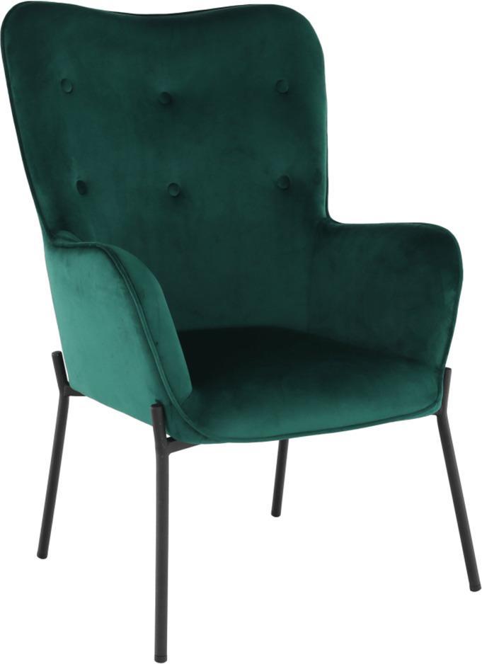 Tempo Kondela SURIL Dizajnové kreslo zelená 102x66x70 cm