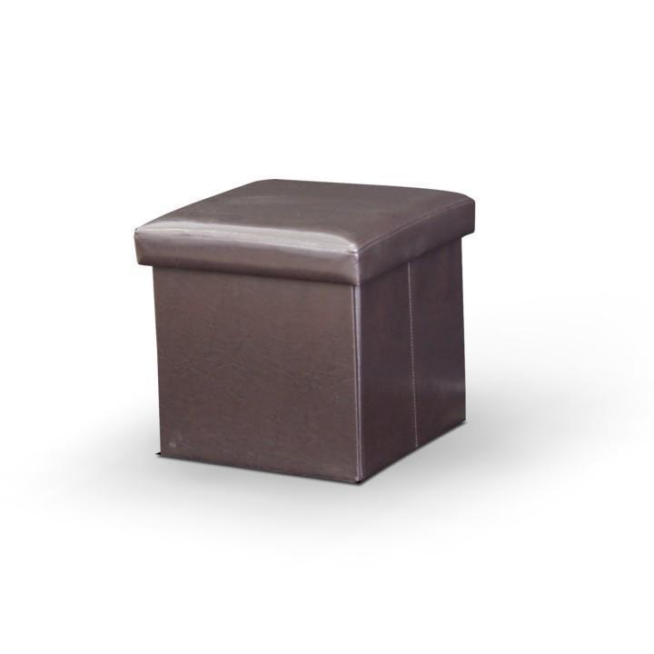 KONDELA Tela New taburetka s úložným priestorom tmavohnedá
