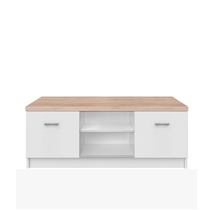 KONDELA Topty Typ 15 tv stolík biela / dub sonoma