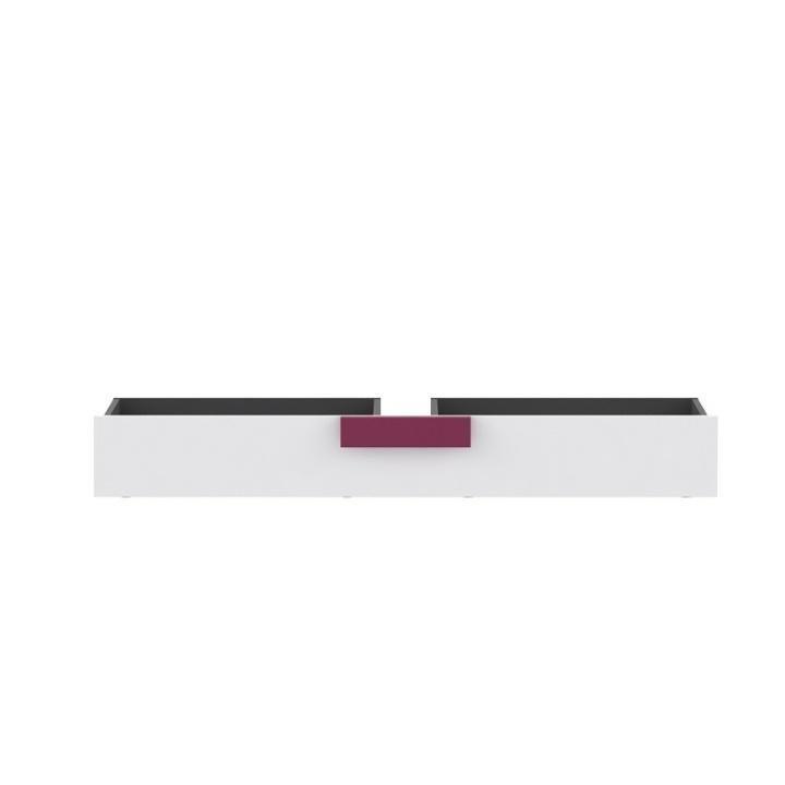 Tempo Kondela Úložný priestor pod posteľ, sivá/biela/fialová, LOBETE 83