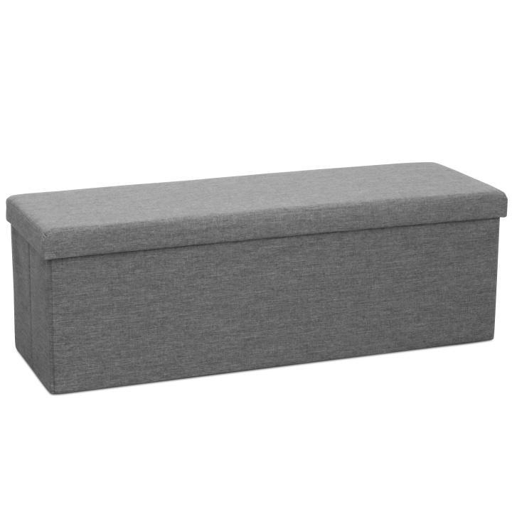 KONDELA Umina taburetka s úložným priestorom sivá