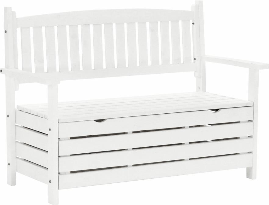 Tempo Kondela Záhradná lavička, biela, 124cm, DILKA