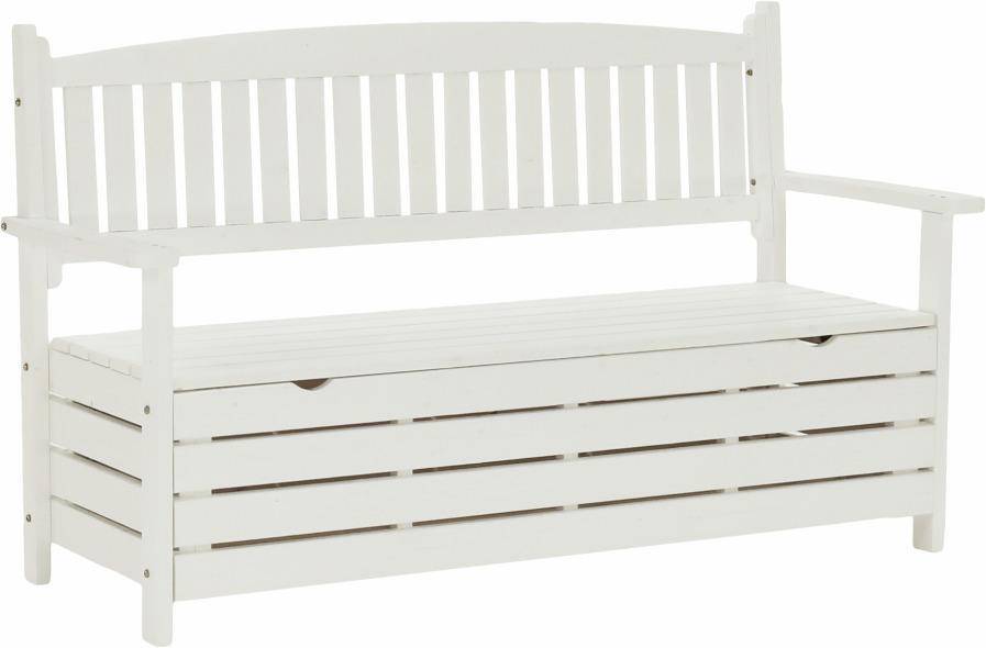 Tempo Kondela Záhradná lavička, biela, 150cm, AMULA