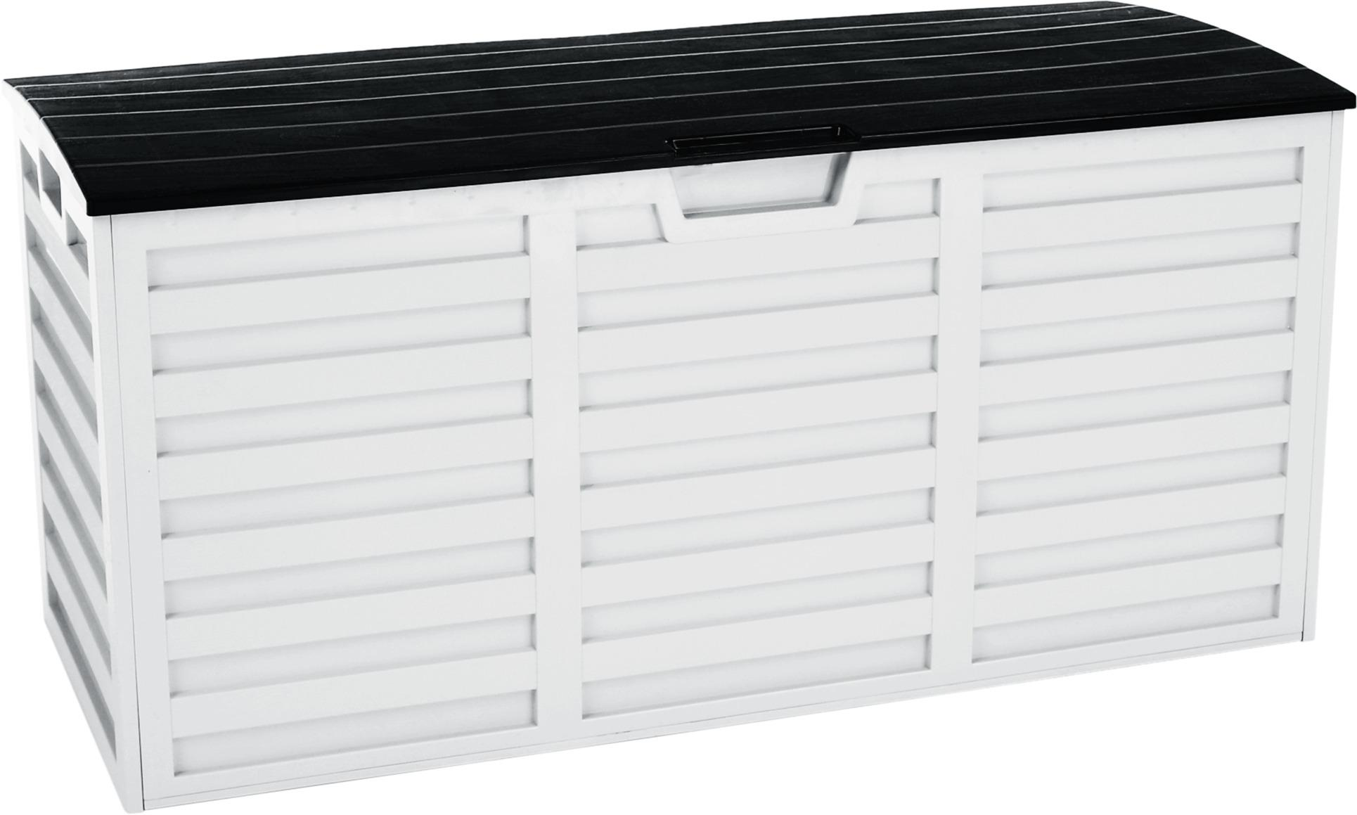 Tempo Kondela Záhradný úložný box, biela/čierna, PADMO