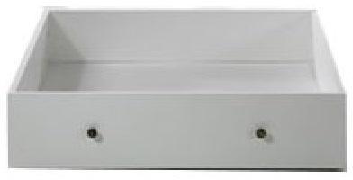 Tempo Kondela Zásuvný kontajner s kolieskami pod posteľ, DTD fóliovaná/MDF lakovaná, biela, PARIS