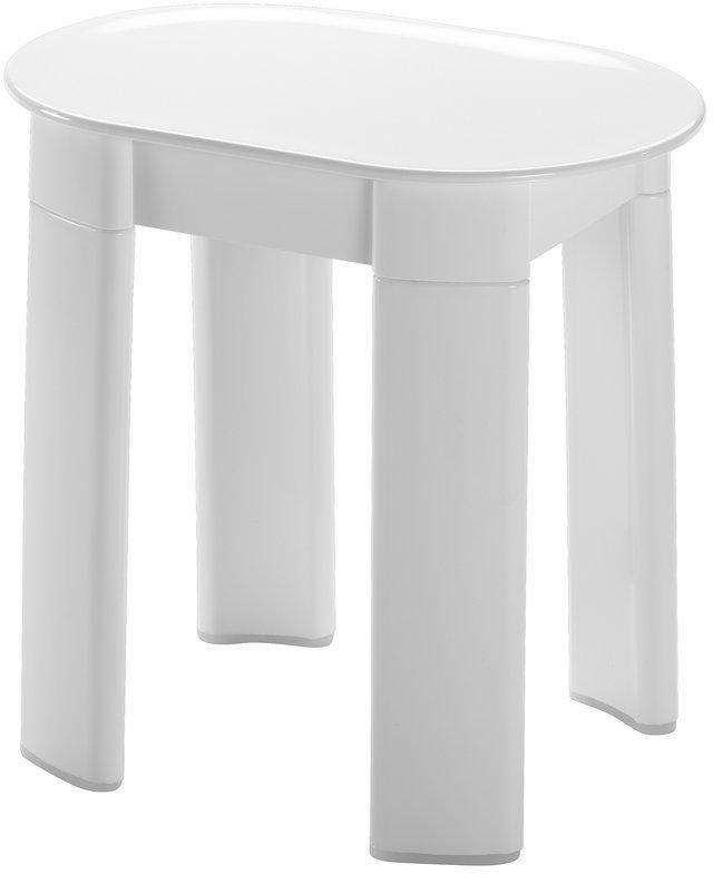 Tetra 2872 kúpeľňová stolička 42x41x27 cm, biela