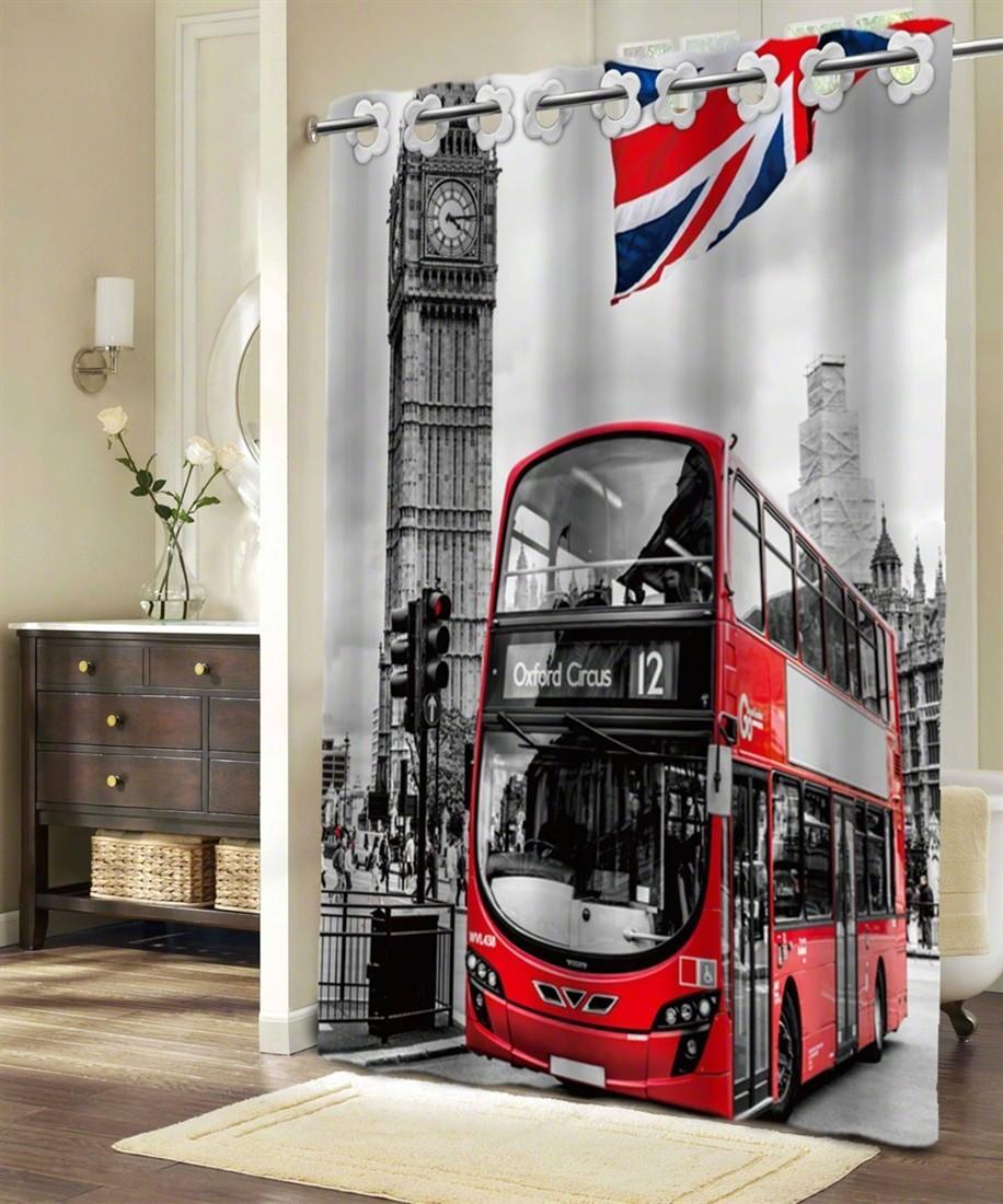 Textilný sprchový záves LONDÝN 180x180