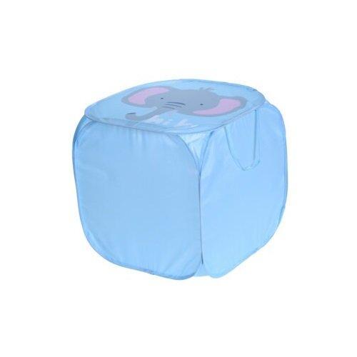 Textilný úložný box Hatu, slon, 45 x 45 x 45 cm