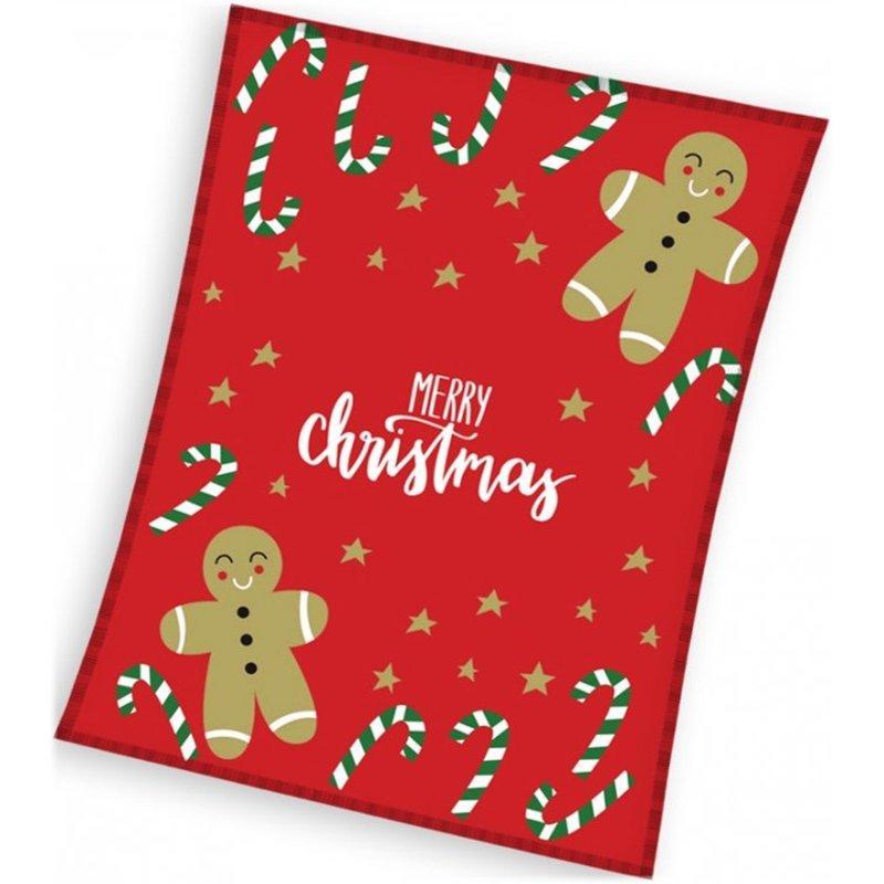 TipTrade (CZ) · Vianočná flísová deka s perníčky - polar fleece 180 gsm - 130 x 170 cm