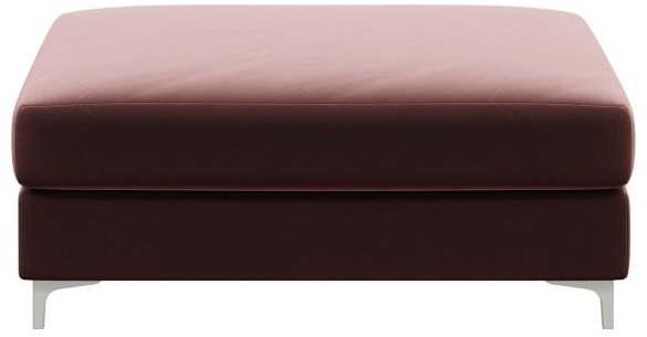 Tmavoružová zamatová podnožka devichy Rothe