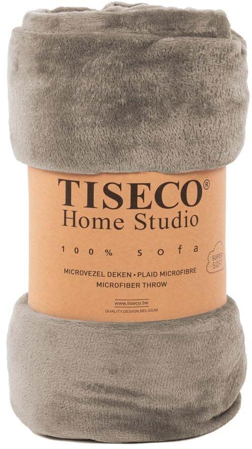 Tmavosivá mikroplyšová deka Tiseco Home Studio, 220 x 240 cm