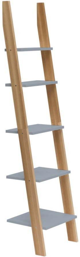 Tmavosivá rebríková polica Ragaba ASHME, šírka 45 cm