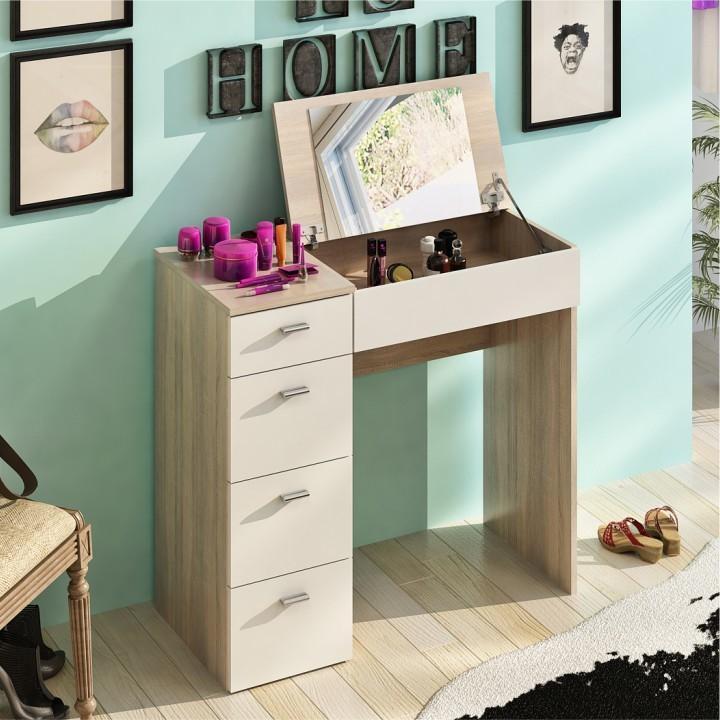 Toaletný stolík BELINA dub sonoma / biela Tempo Kondela
