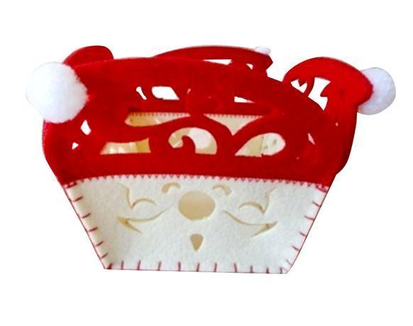 TORO Plstený košík TORO 12cm červeno biely