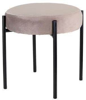 TORO Stolička Toro 36 cm šedý zamat