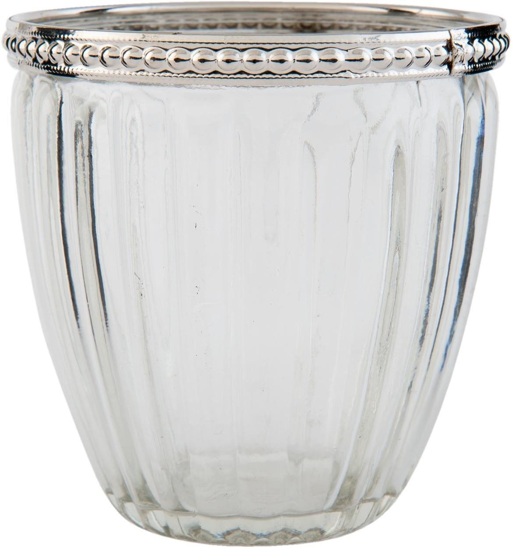 Transparentný sklenený svietnik na čajovú sviečku - Ø 8 * 9 cm