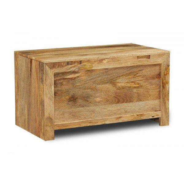 Truhlica Hina 120x45x45 z mangového dreva - Mango natural