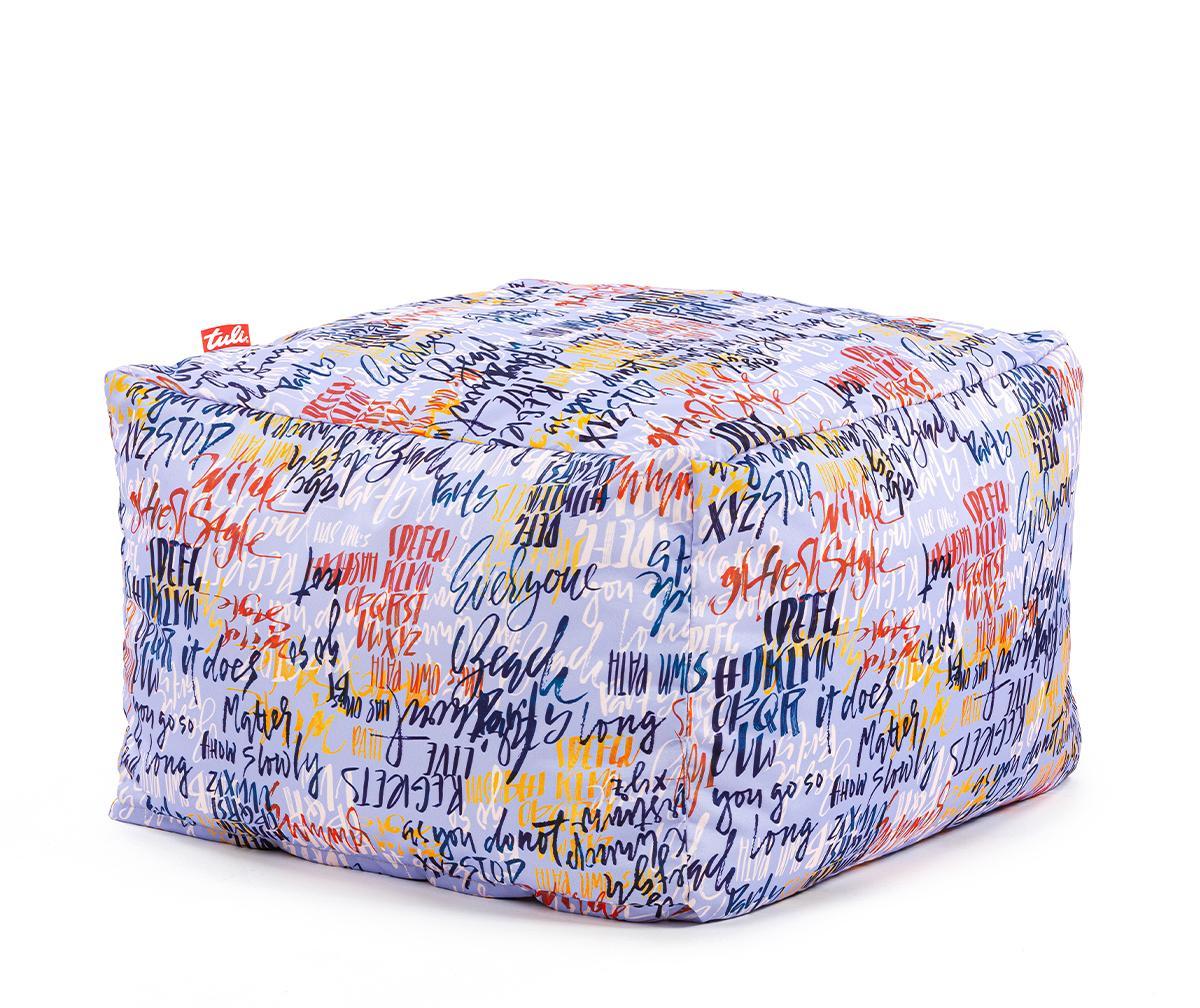 Tuli Block Snímateľný poťah - Polyester Vzor Graffiti Modrá