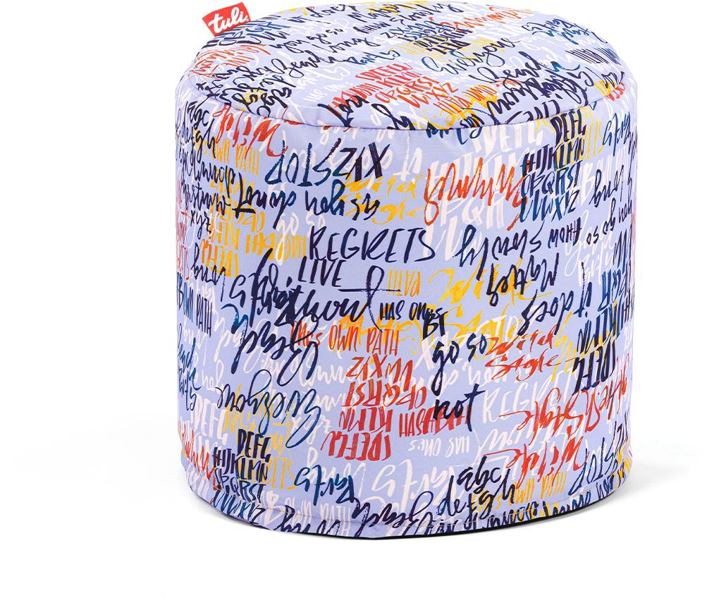 Tuli Otto Snímateľný poťah - Polyester Vzor Graffiti Modrá