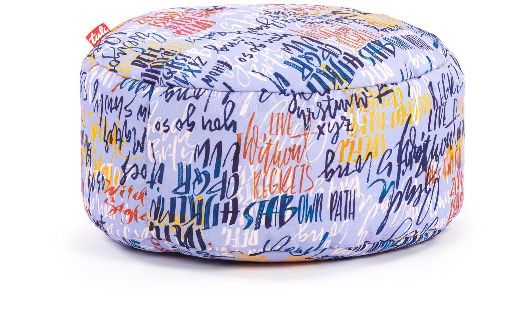 Tuli Puf Nesnímateľný poťah - Polyester Vzor Graffiti Modrá