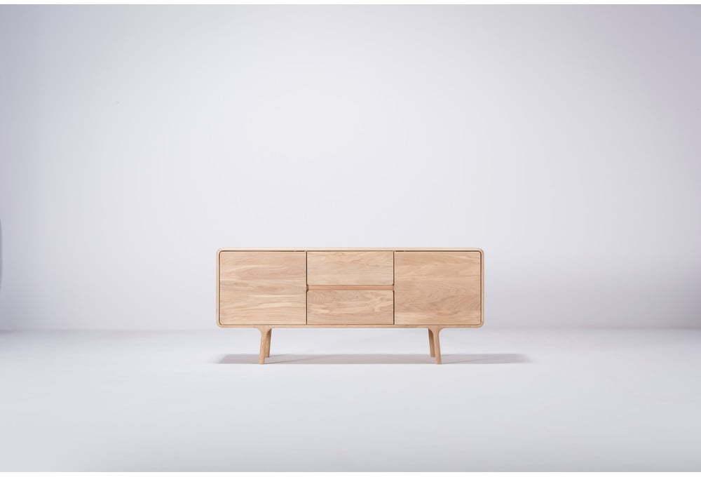 TV komoda z masívneho dubového dreva Gazzda Fawn Natural