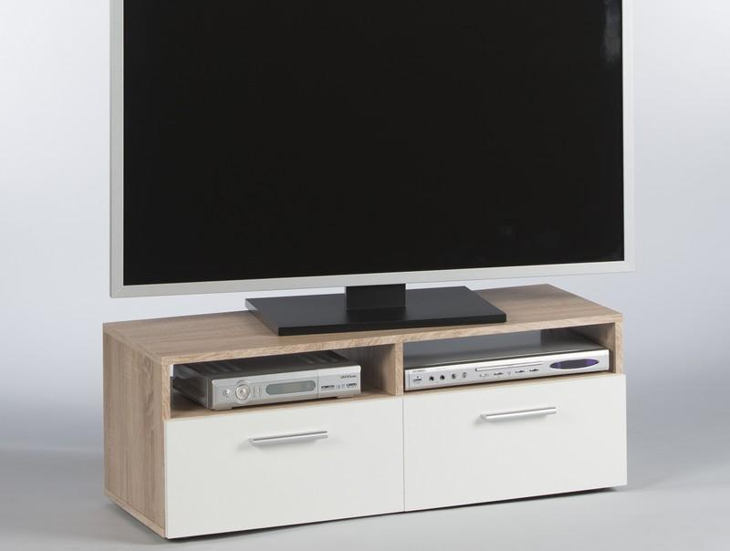 TV stolík Rana, dub sonoma/biela
