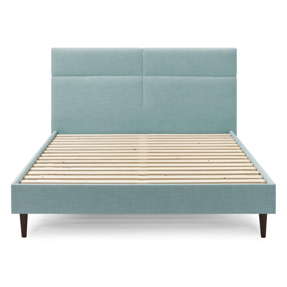 Tyrkysovomodrá dvojlôžková posteľ Bobochic Paris Elyna Dark, 160 x 200 cm