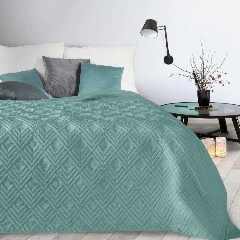 Tyrkysový prehoz na posteľ ALARA1 170x210 cm