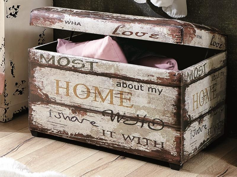 Úložná truhicla so sedákom Home, vintage