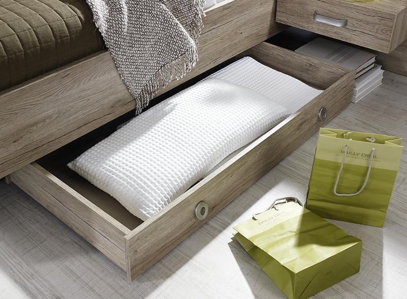 Úložná zásuvka pod posteľ Gandra, dub san remo