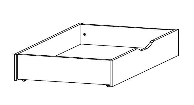 Úložná zásuvka pod posteľ Mosbach, dub Stirling