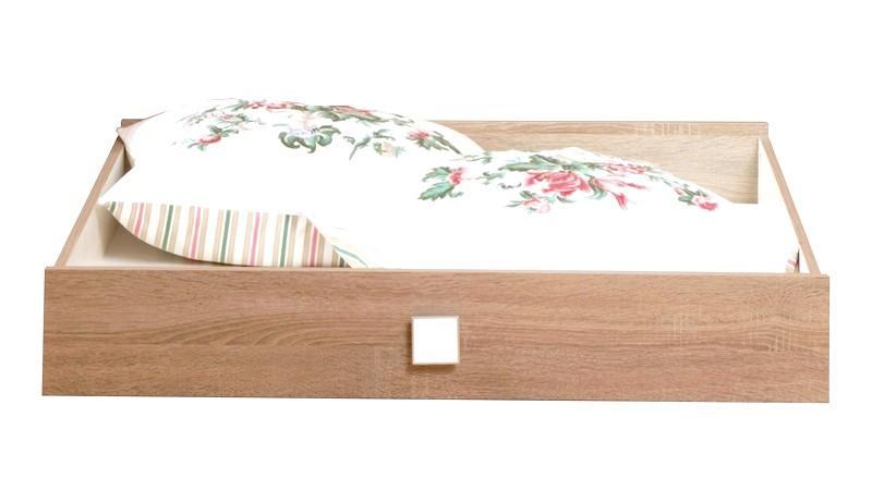 Úložná zásuvka pod posteľ Pingu, dub/biela