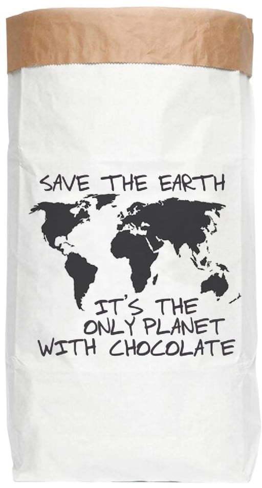 Úložné vrece z recyklovaného papiera Really Nice Things Chocolate