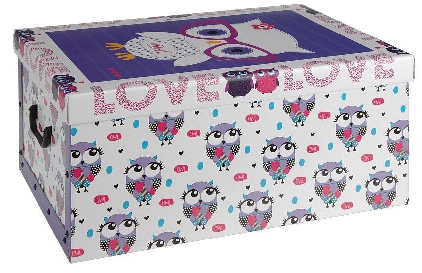 Úložný box dekorativní sovy fialový EXCELLENT KO-M30500360fi
