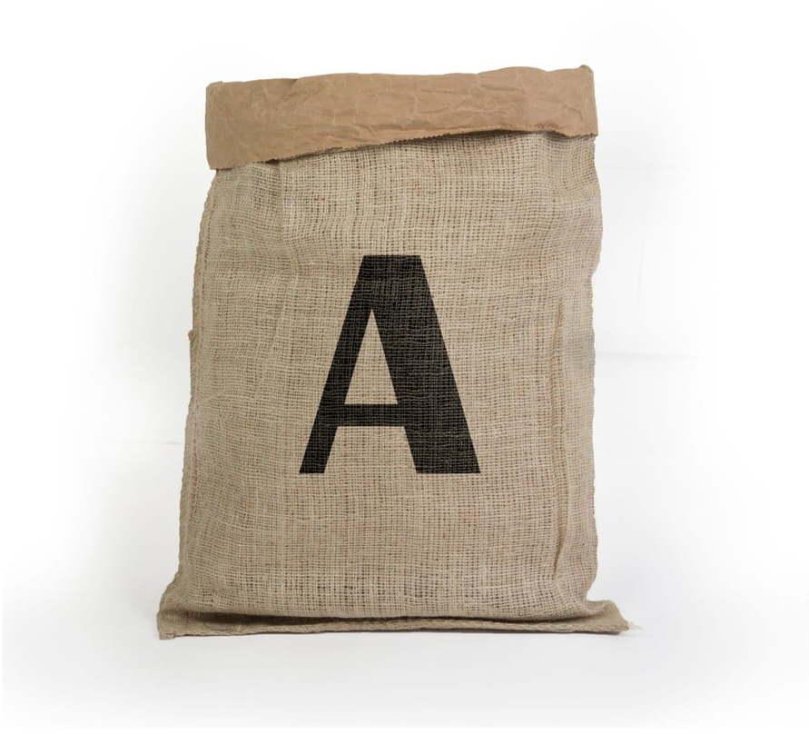 Úložný kôš z recyklovaného papiera Surdic Yute letra A