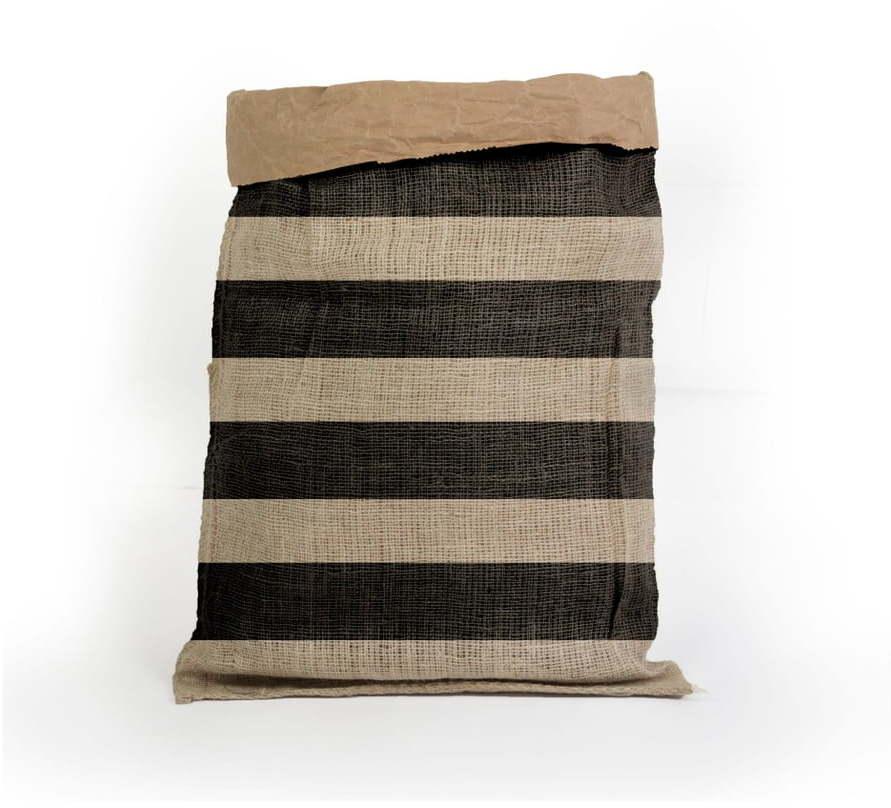 Úložný kôš z recyklovaného papiera Surdic Yute Stripes