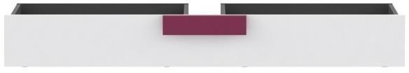 Úložný priestor pod posteľ LOBETE 83 sivá / biela / fialová Tempo Kondela