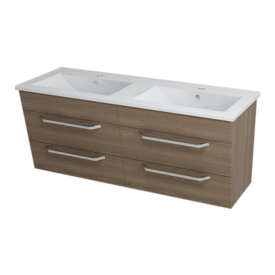 Umývadlová skrinka KALI, 120x50x45cm, orech, zásuvková