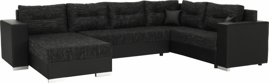 Univerzálna sedacia súprava, čierna/čierny melír, STILA