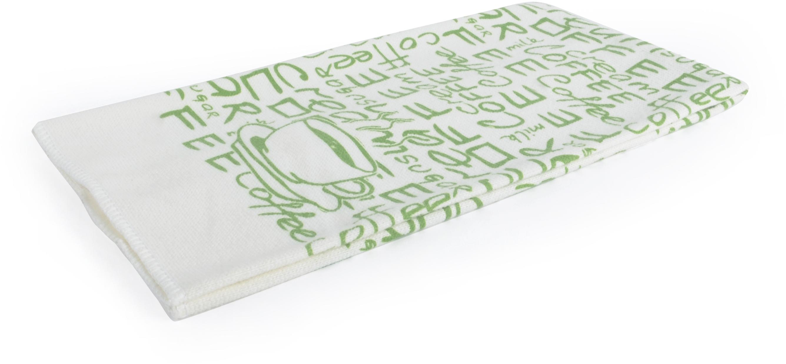 Utěrka LATTE mikrovlákno 38x63 cm, zelená, Essex