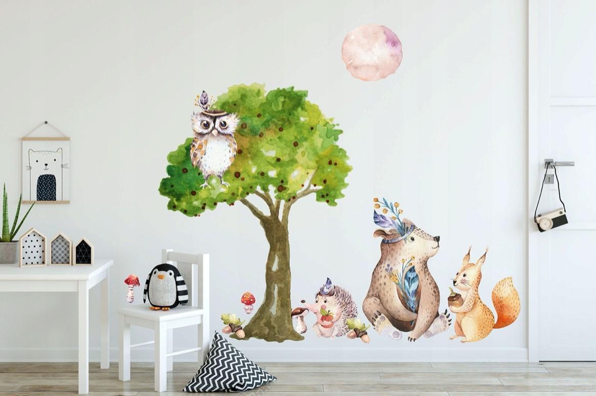 DomTextilu Úžasná detská farebná nálepka na stenu do detskej izby 60 x 120 46372