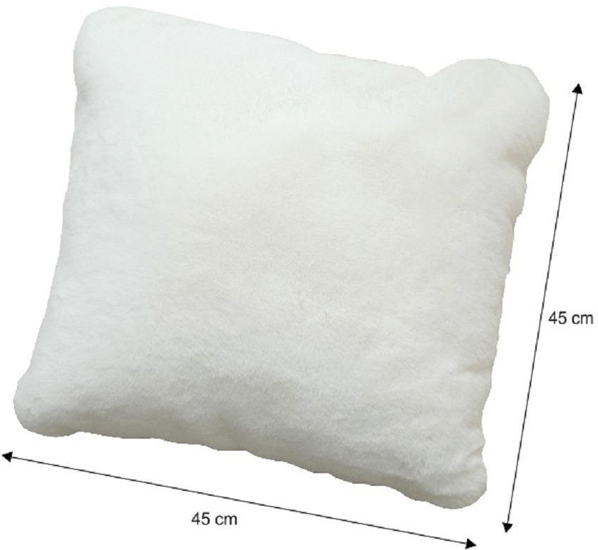 Vankúš, biela, 45x45, RABITA NEW TYP 7